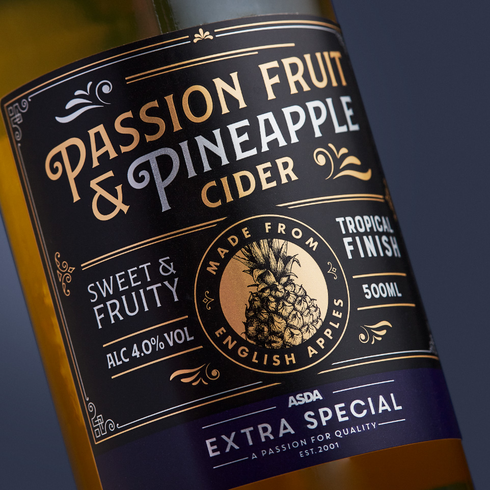 ASDA Extra Special Ciders Thumbnail - Amberley Labels